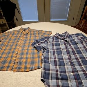 2 boys plaid shirts  Lucky Brand and Chaps
